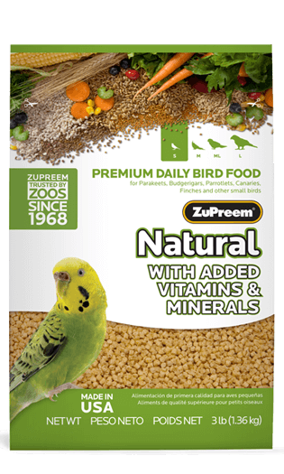 Zupreem Natural With Added Vitamins & Minerals (S) 1 Kgs