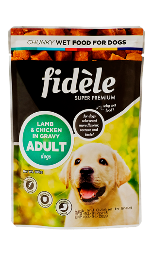 Fidele Adult Lamb & Chicken In Gravy Pouch