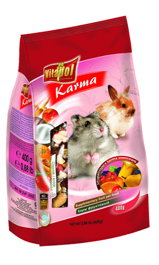 Fruit Food Economic For Rabbit And Hamsters 400 Gms